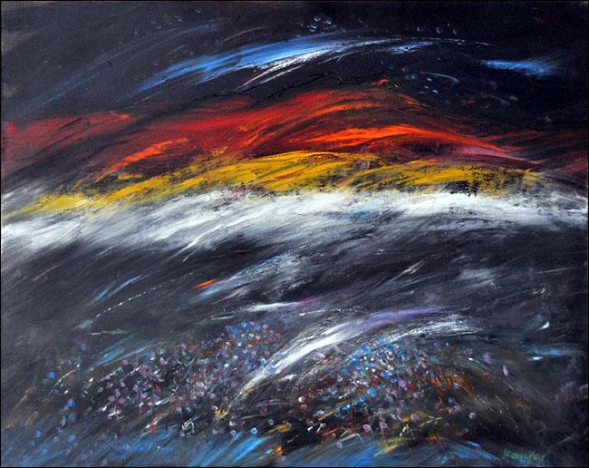 [1] Svitanje, 2010, ulje na platnu, 80x100cm [cena:1000]
