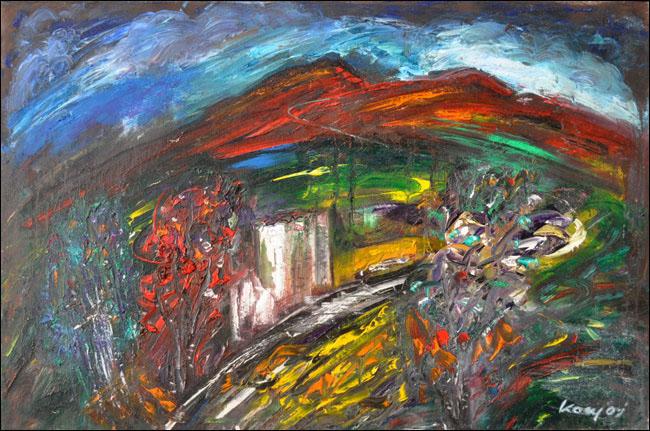 [15] Crveno brdo, 1981, ulje na platnu, 60x90 cm [cena: 500]