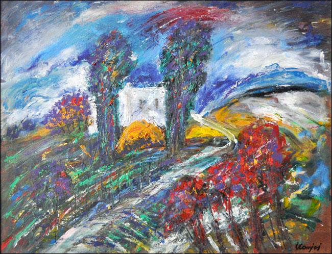[19] Motiv iz Srema, 1990, ulje na platnu, 60x80 cm [cena:]