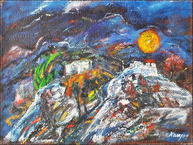 [20] Noć u Crnoj Gori, 1970, ulje na platnu, 60x80 cm [cena: 400]