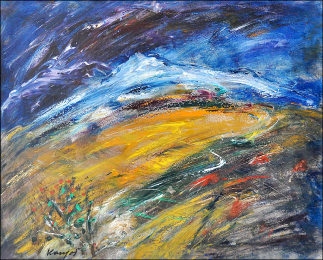 [22] Sunčana strana, 2000, ulje na platnu, 60x80 cm [cena: 400]