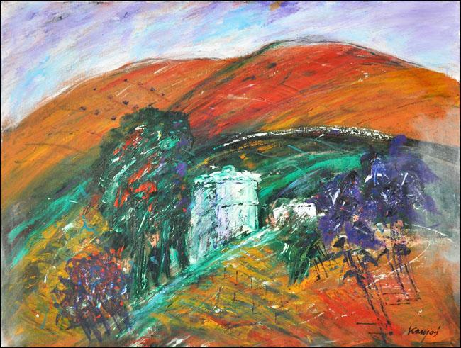 [33] Crveno brdo, 1980, ulje na platnu, 60x80 cm [cena: 400]