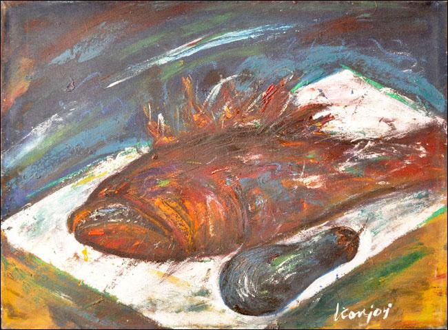 [39] Škarpina, 1960, ulje na platnu, 47x64 cm [cena: 400]