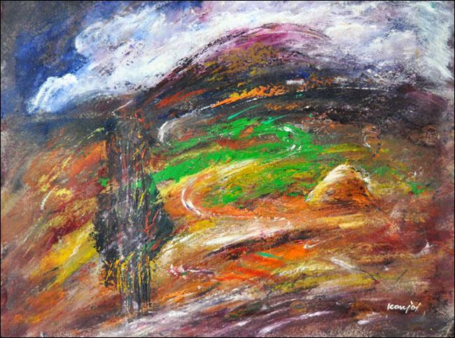 [7] Letnji pejzaž, 2000, ulje na platnu, 64x80 cm [cena: 400]